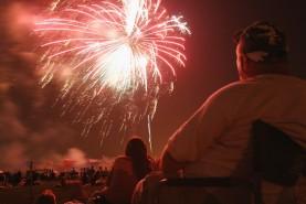 Fireworks aboard Marine Corps Base Camp Lejeune, NC, July 4, 2004